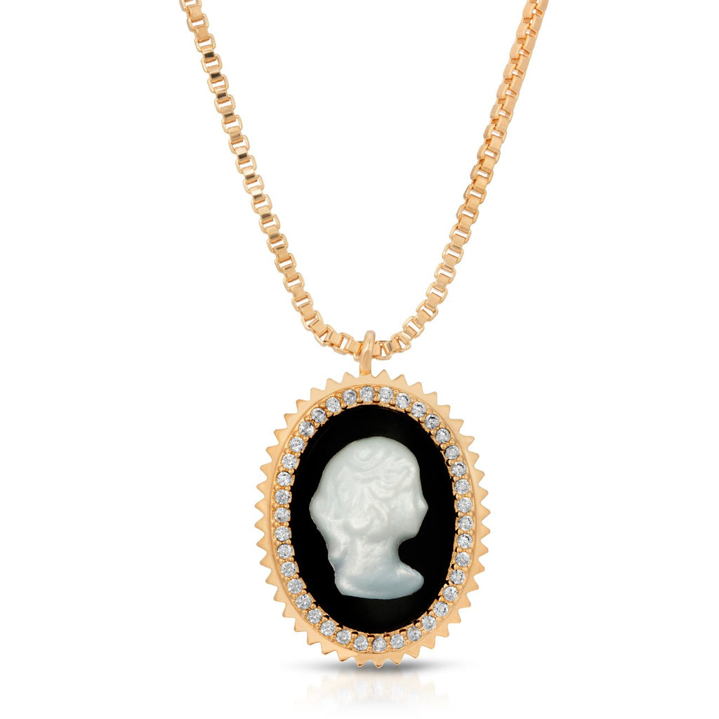 The Cameo Pendant - Black
