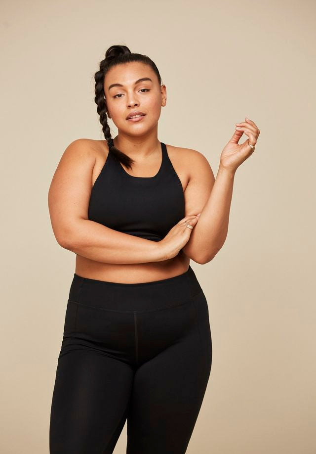 The Compressive High Rise Leggings - PLUS SIZE -Black