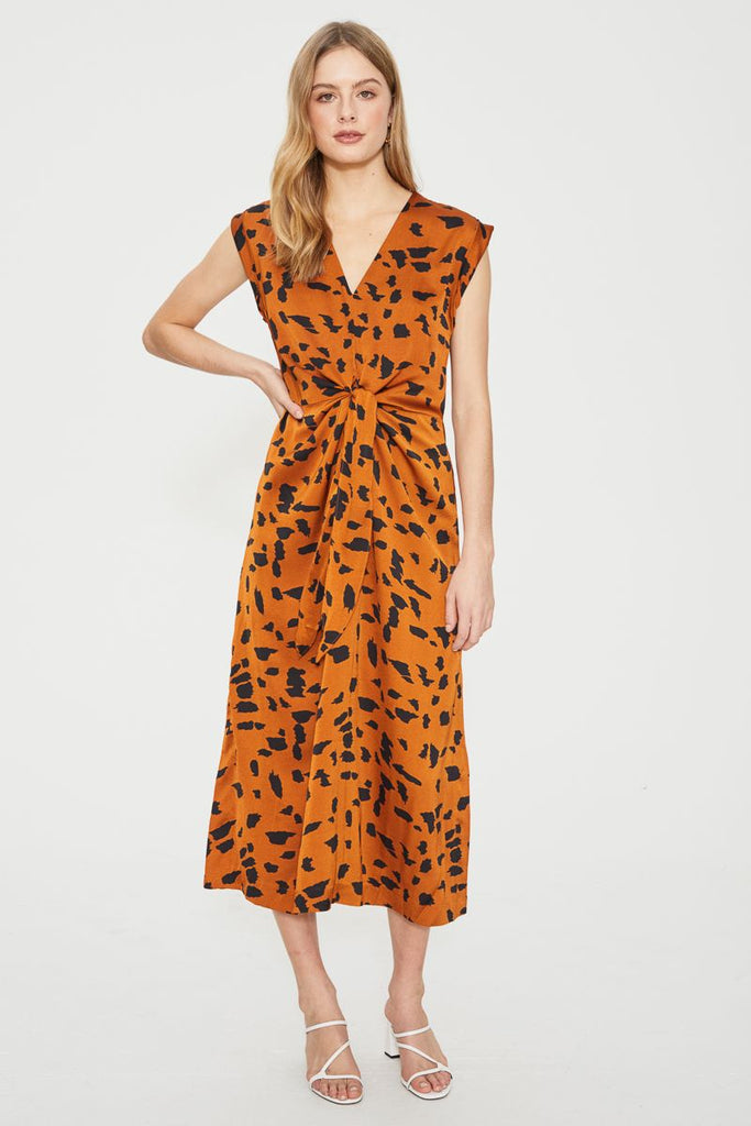 The Wild Cat Tie Midi Dress by Cooper Street