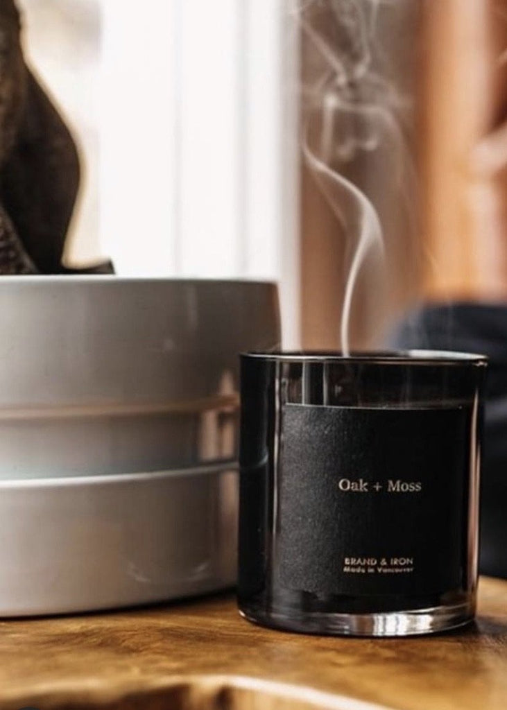 The Brand & Iron Dark Spaces Candle - Oak + Moss