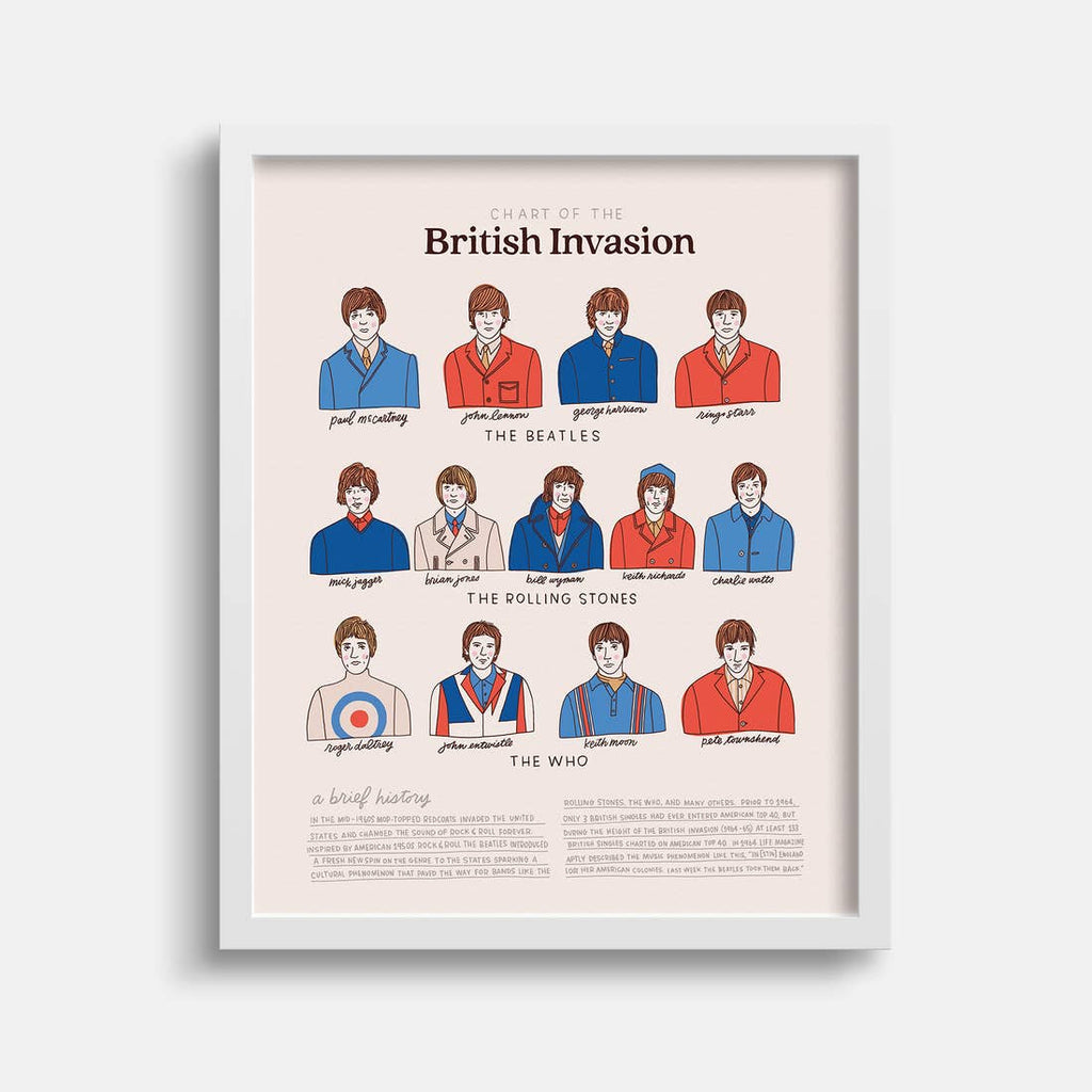 The British Invasion Print - 11 x 14
