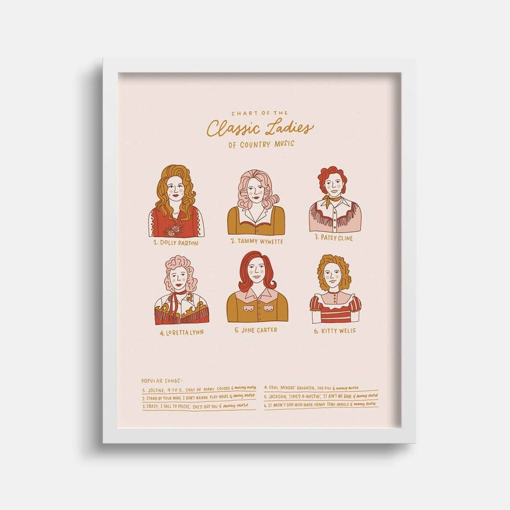 The Classic Ladies of Country Print - 11 x 14