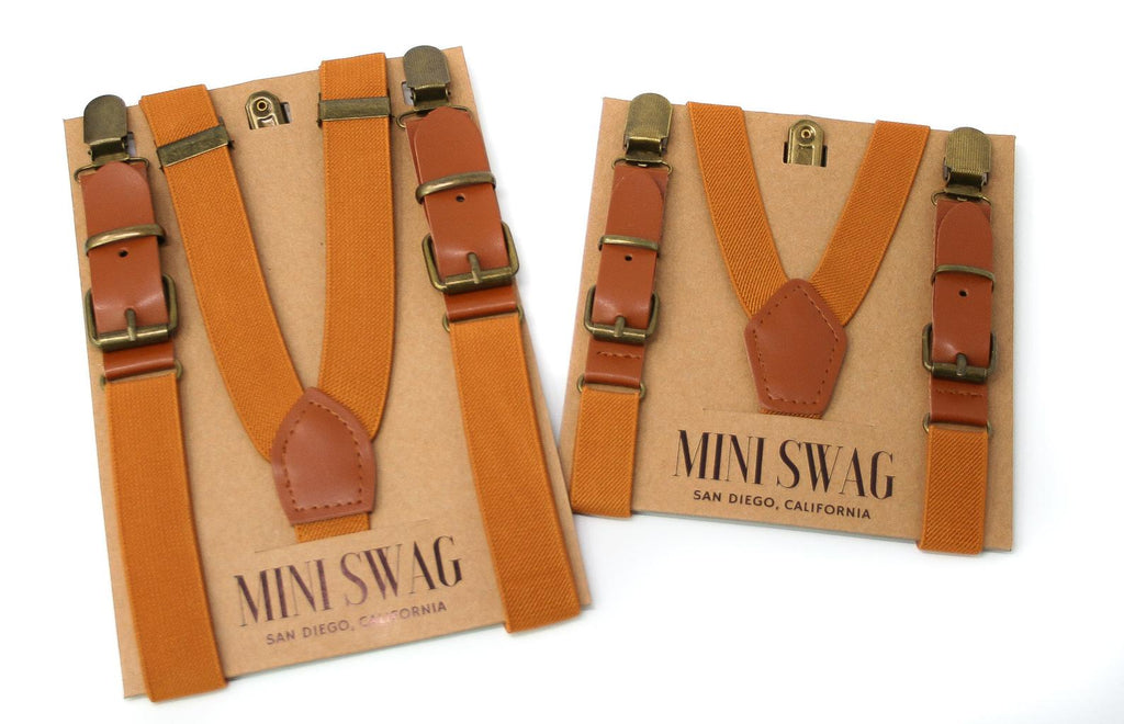 The Baby Leather Suspender - Various Colours