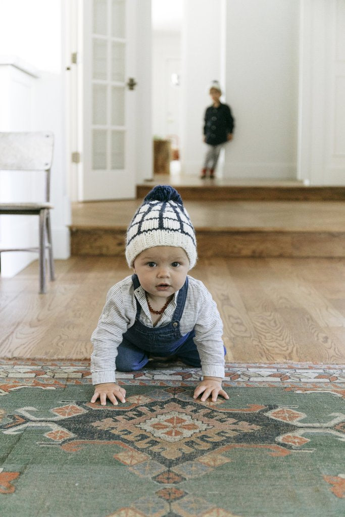 The Isla Windowpane Toque - Baby Edition