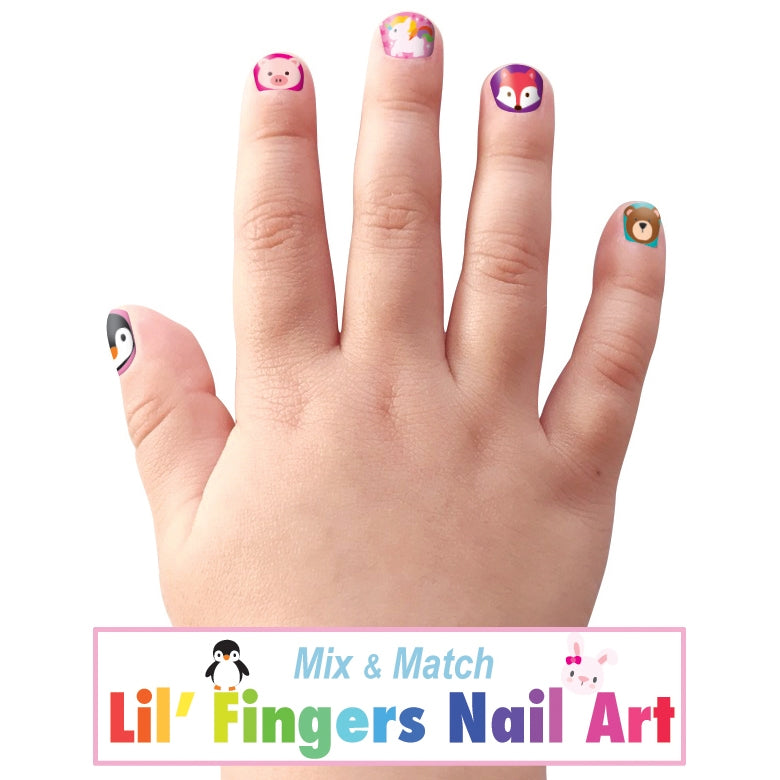 The Kids Press On Nail Stickers - Various Styles