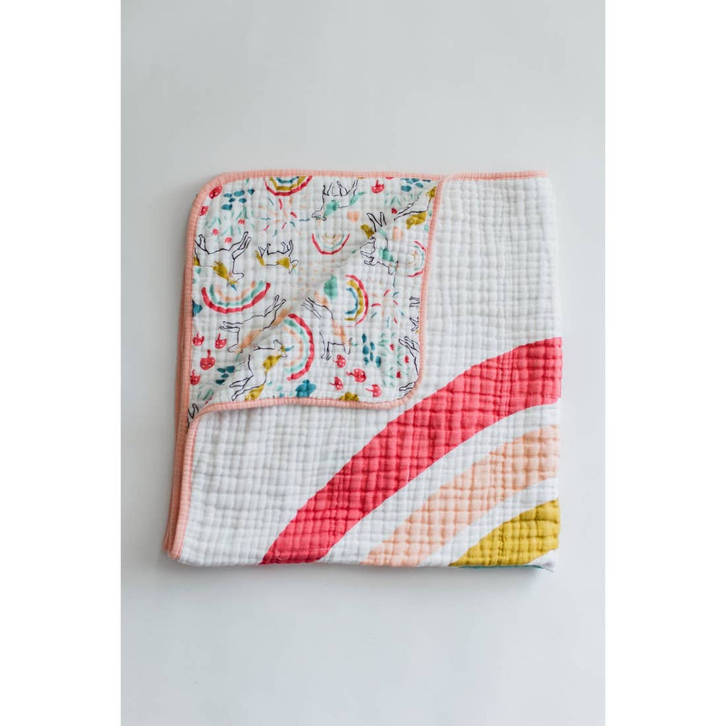The 4 Layer Quilt - Unicorn Land Reversible