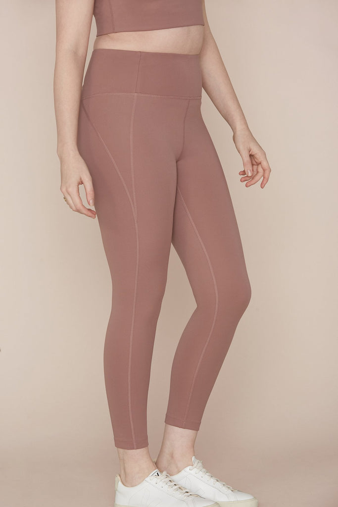 The Compressive High Rise Leggings - PLUS SIZE - Rose Quartz