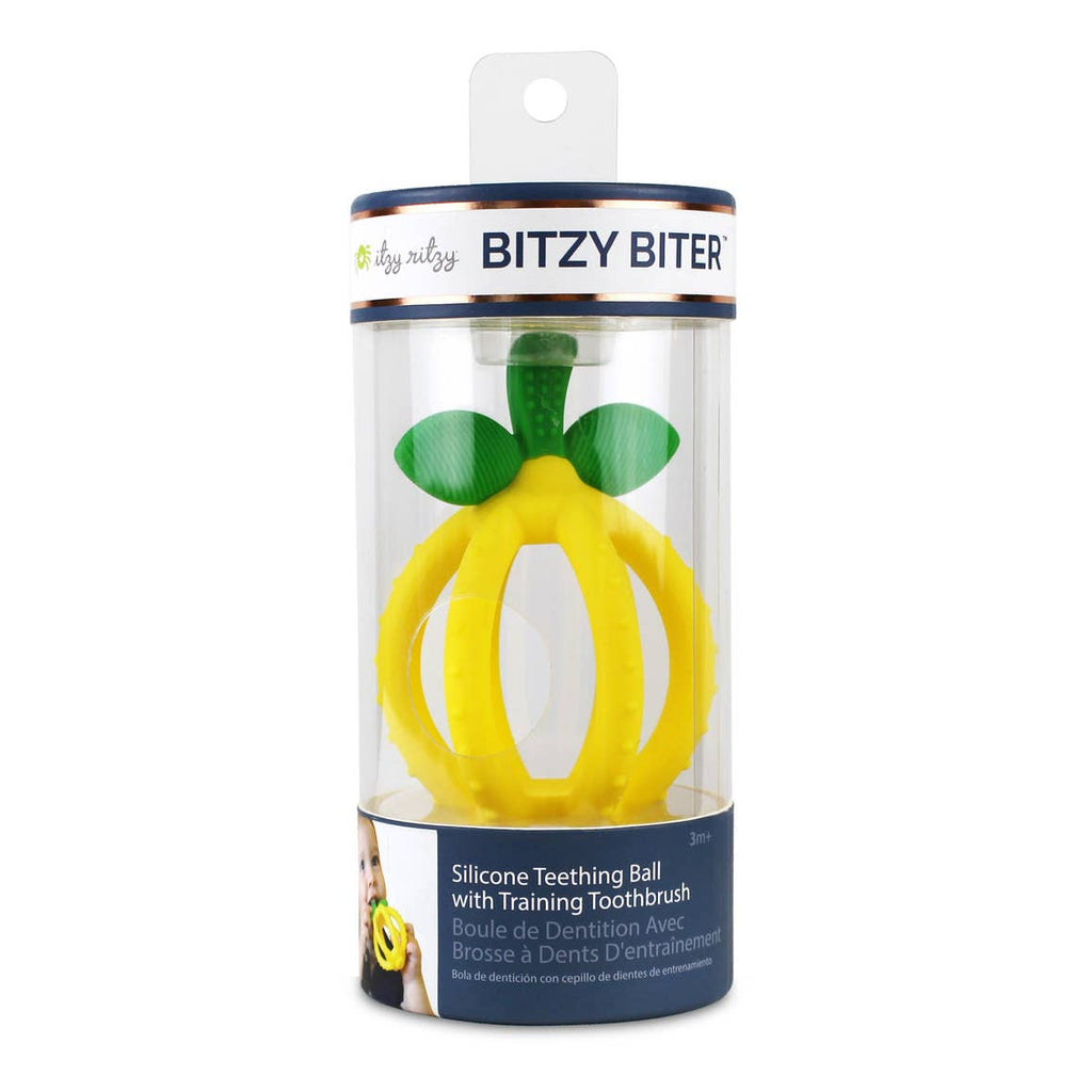 The Bitzy Biter Lemon Teething Ball