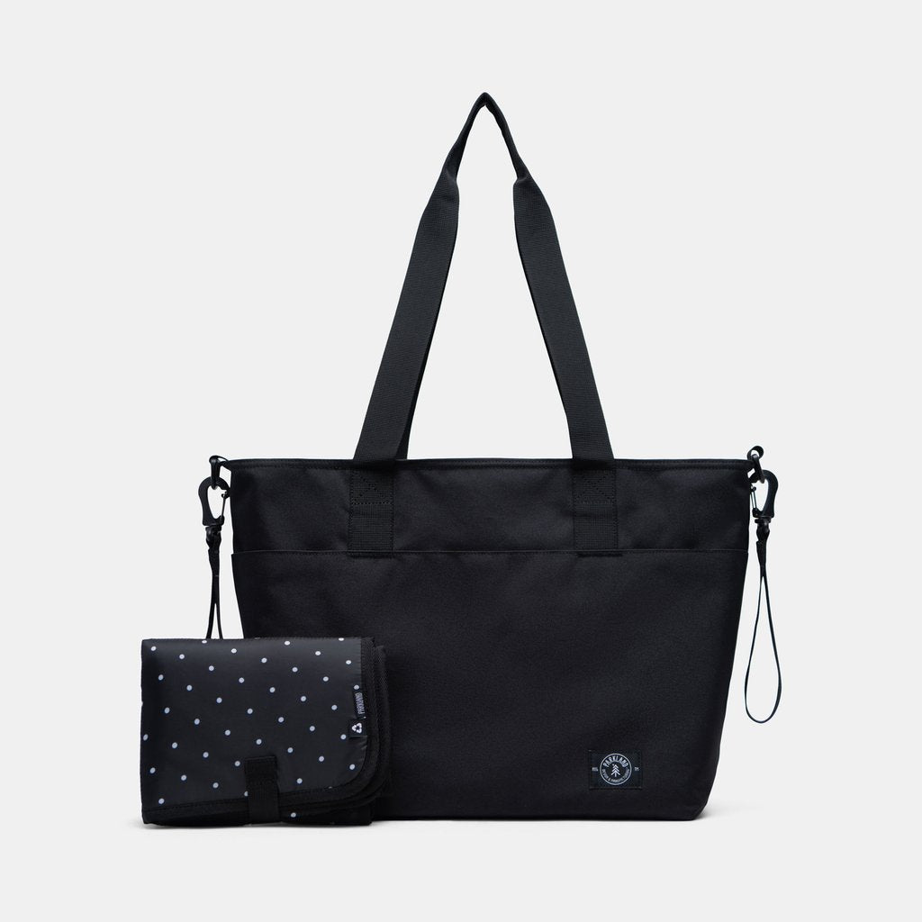 The Fairview Diaper Bag - Black