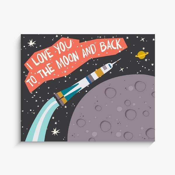 The Rocket To The Moon Art Print - 8 x 10""