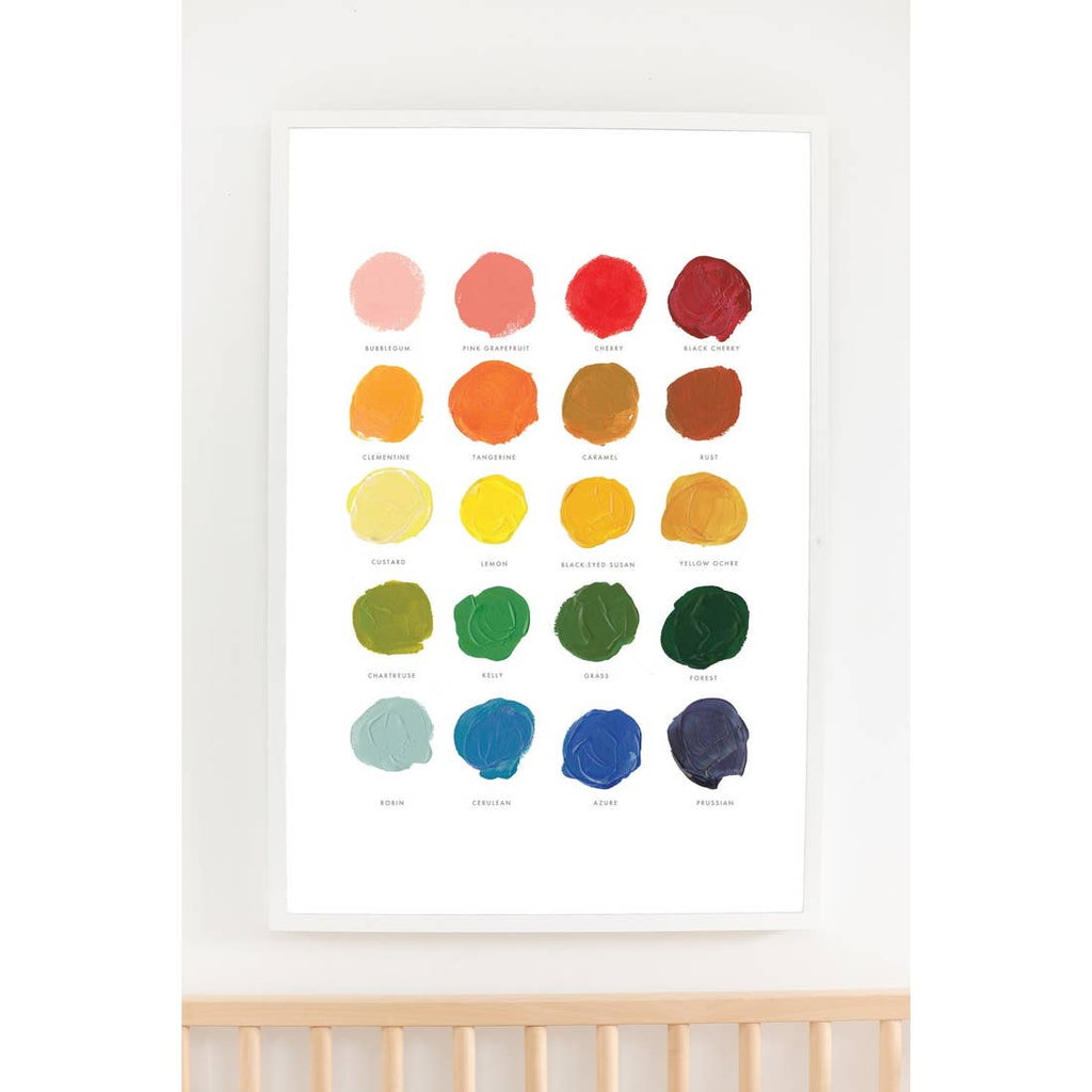 The Color Mixing Art Print - 11 x14