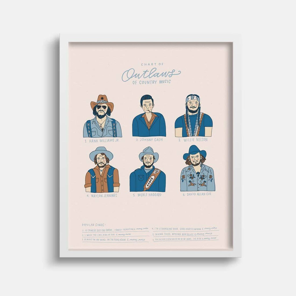 The Outlaws of Country Print - 11 x 14
