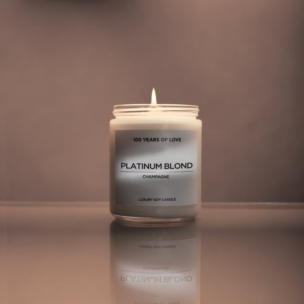 The 100 Yrs of Love Candle - PLATINUM BLONDE