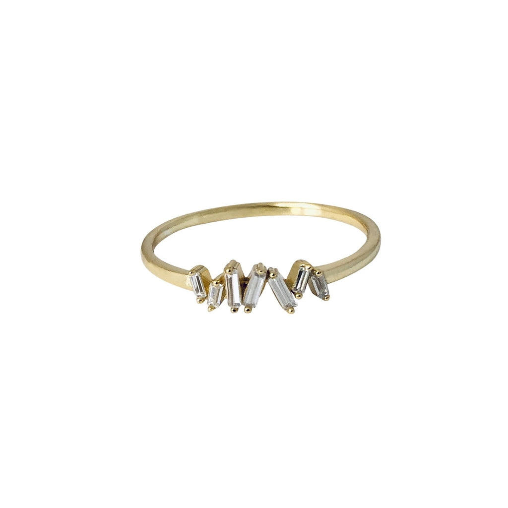 The Baguette Cluster Ring