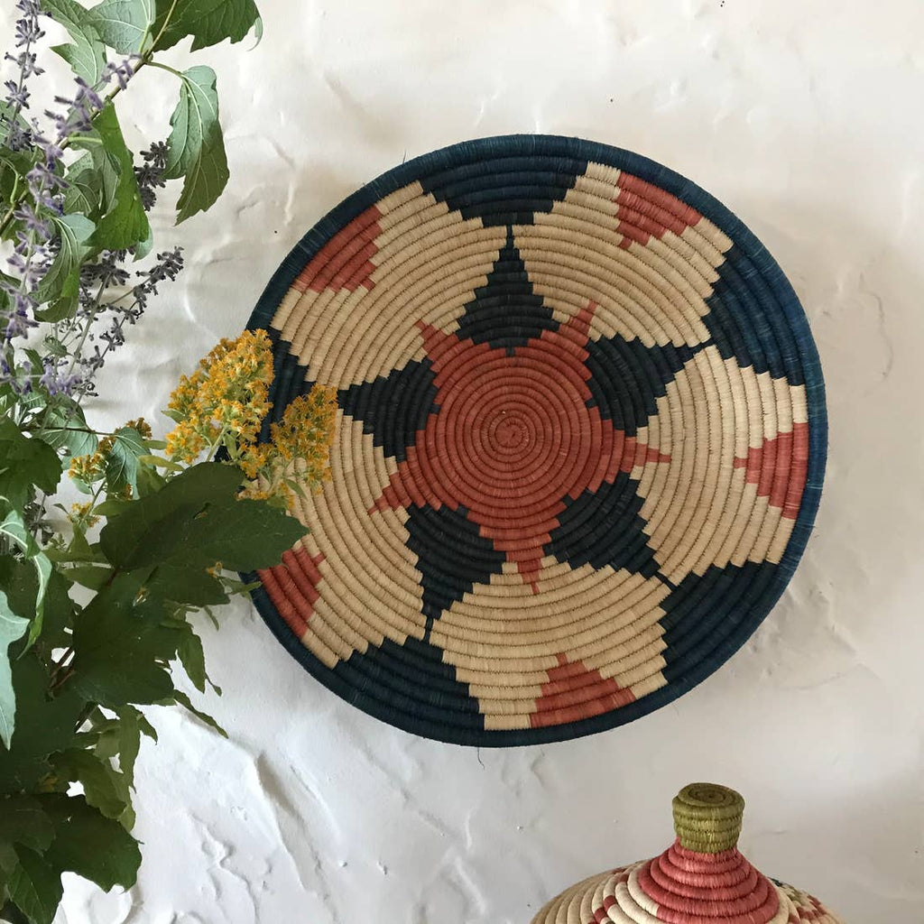 The Raffia Basket - Blue