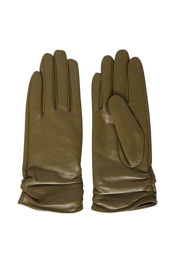 The Crush Leather Gloves - Olive