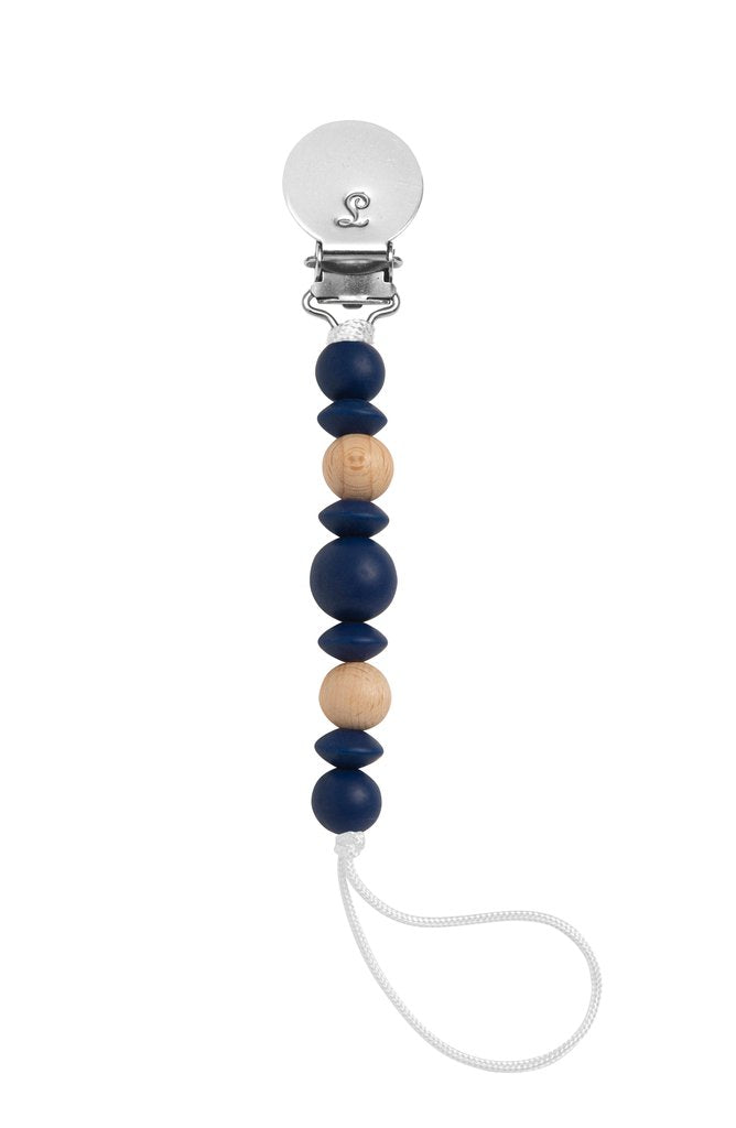 The Luna Pacifier Clip - Navy