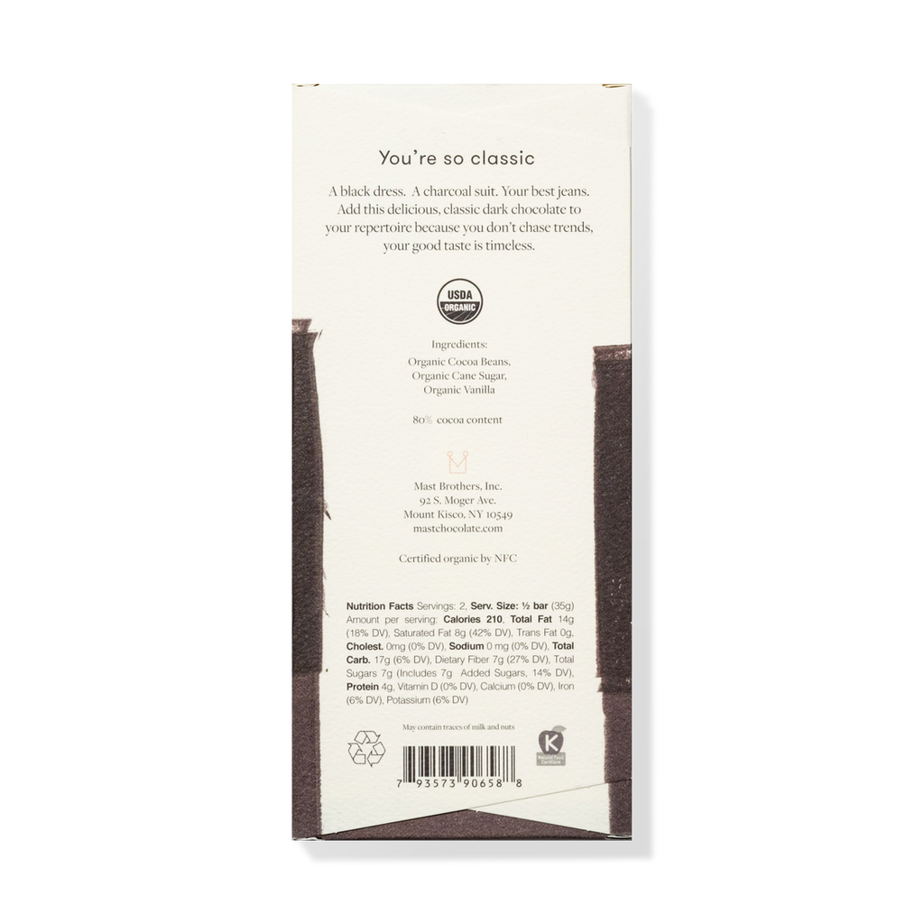 The Mast Chocolate Bar - Dark Chocolate