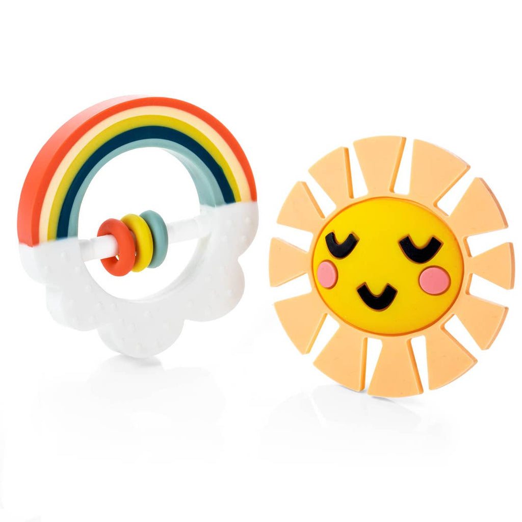 The Little Rainbow Teether Set