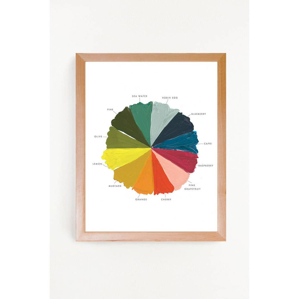 The Color Wheel Art Print - 11 x14