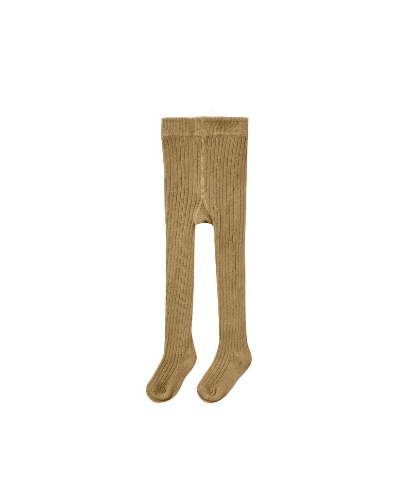The Rib Knit Tights - Goldenrod - BABY