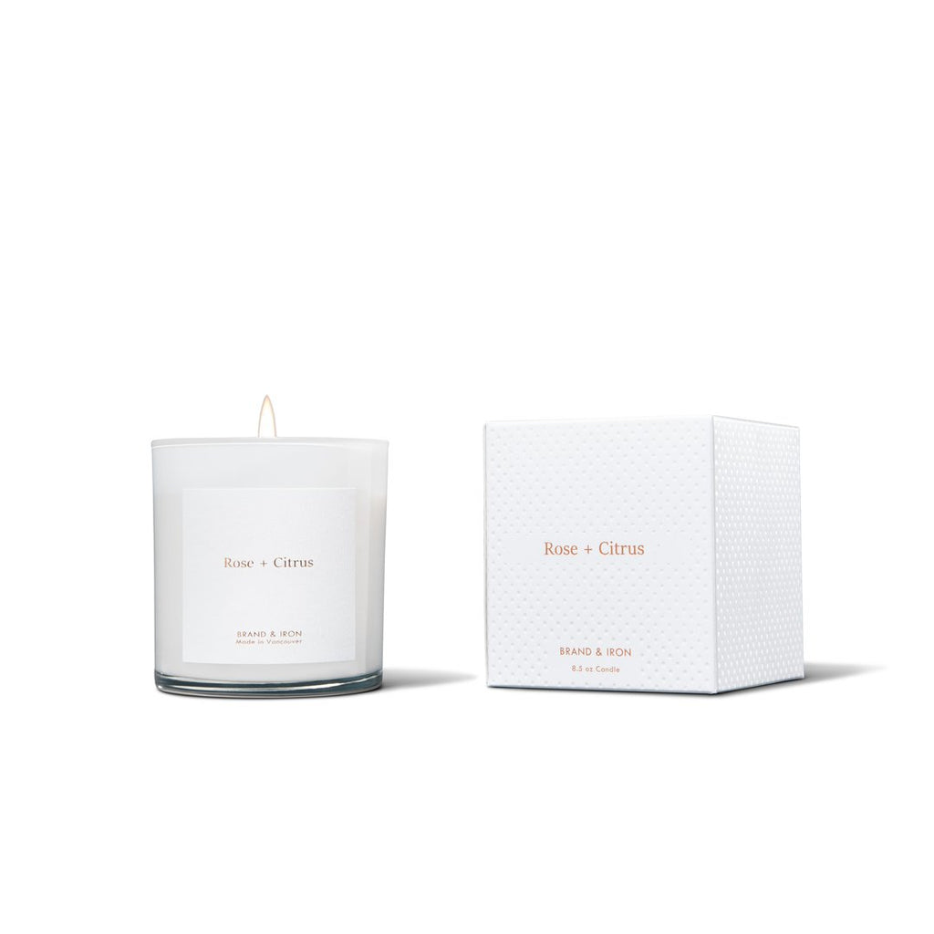 The Brand & Iron Home Candle - Rose + Citrus