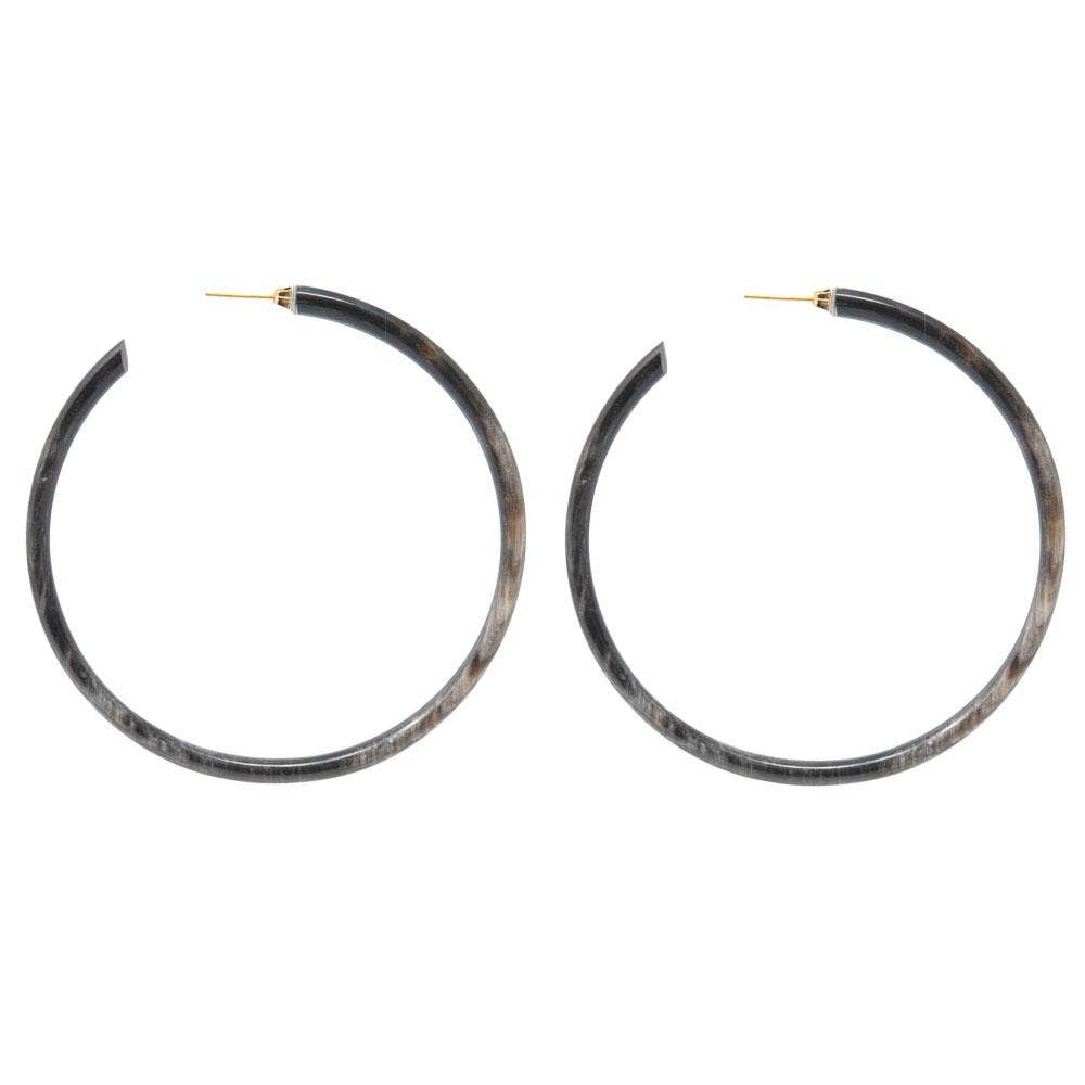 The Large Horn Hoop Earrings