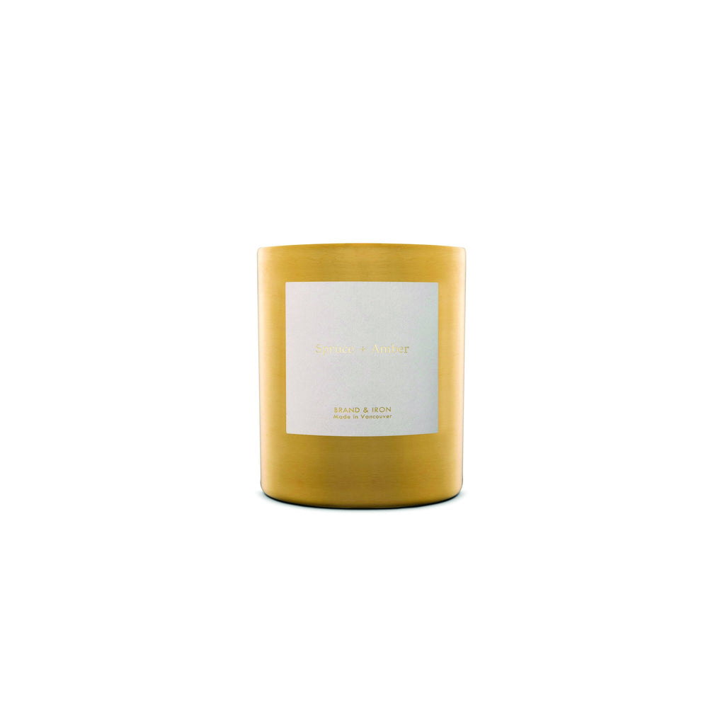 The Brand & Iron Goldie Candle - Spruce + Amber