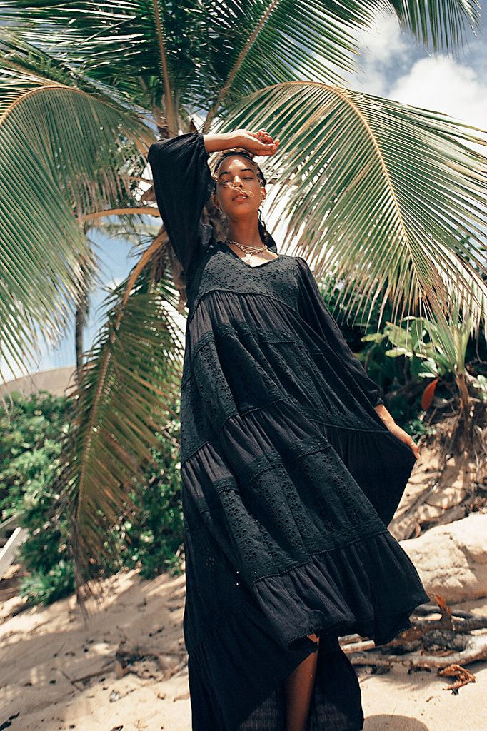 The Mockingbird Maxi Dress by Free People - Black