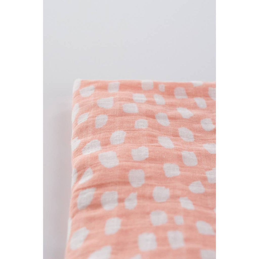 The Spotted Blush Swaddle