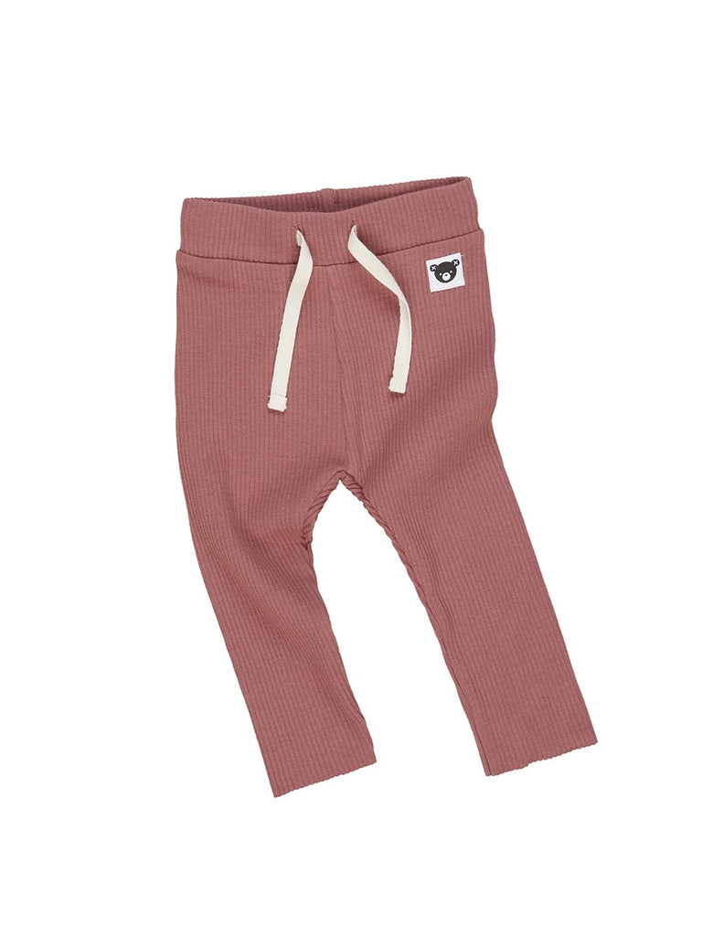The Hux Baby Rib Legging - Baby - Plum