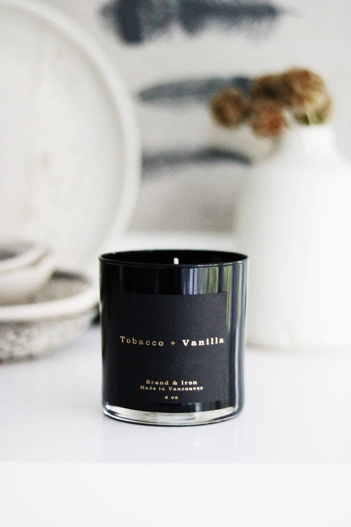 The Brand & Iron Dark Spaces Candle - Tobacco + Vanilla