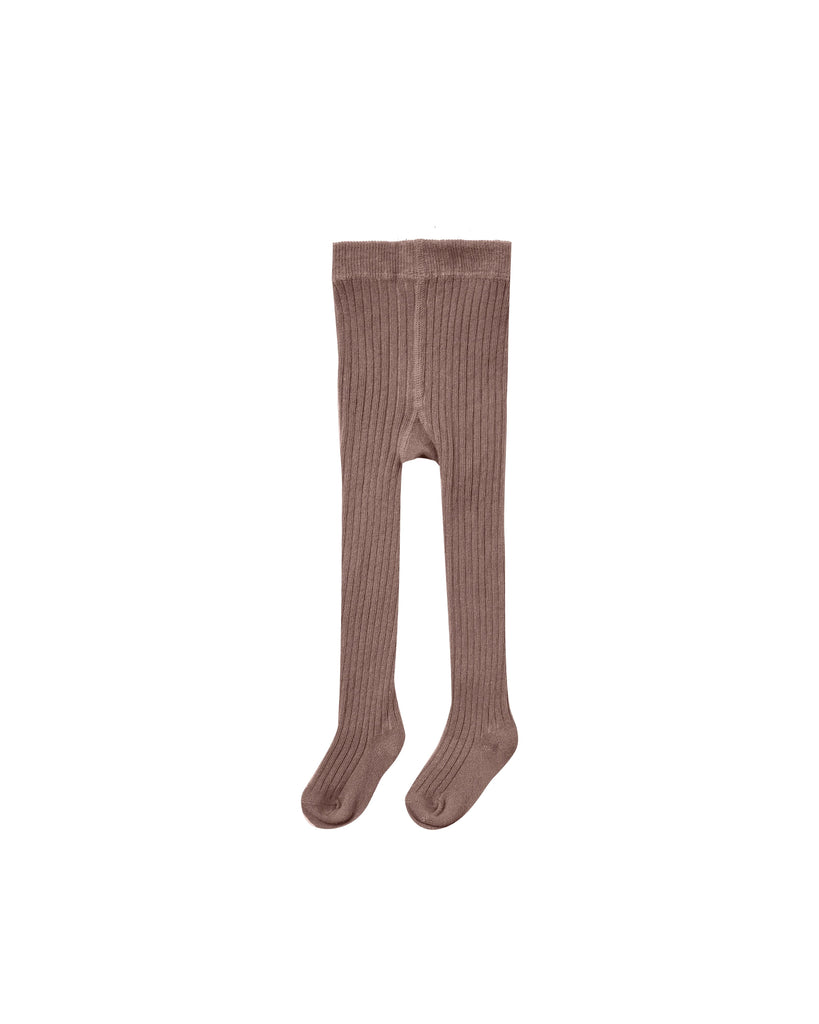 The Rib Knit Tights - Wine - BABY