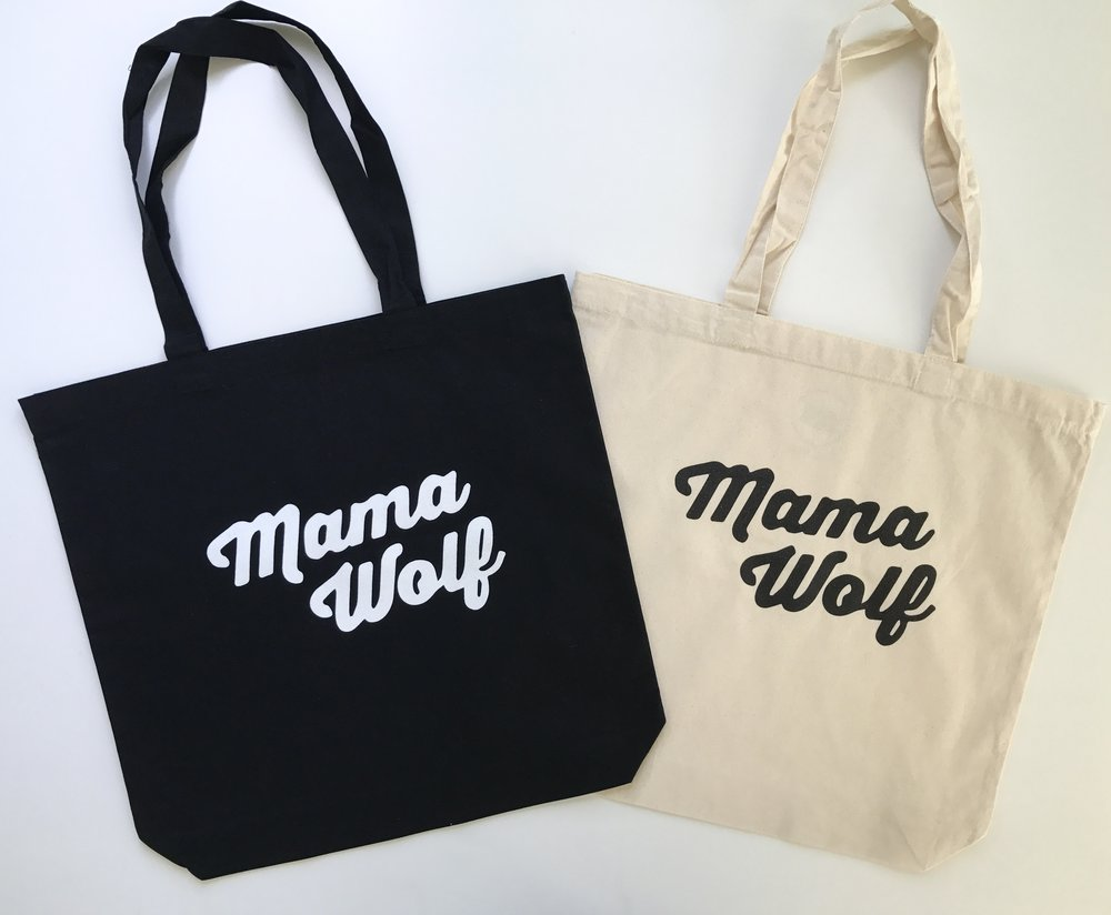 The Canvas Tote Bag - Mama Wolf