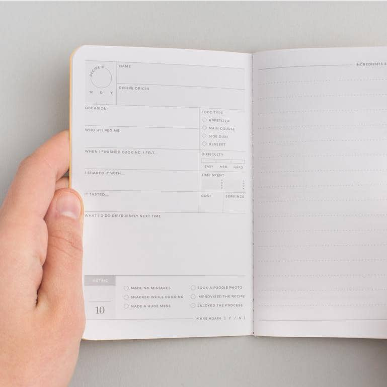 The Recipe Passport Journal