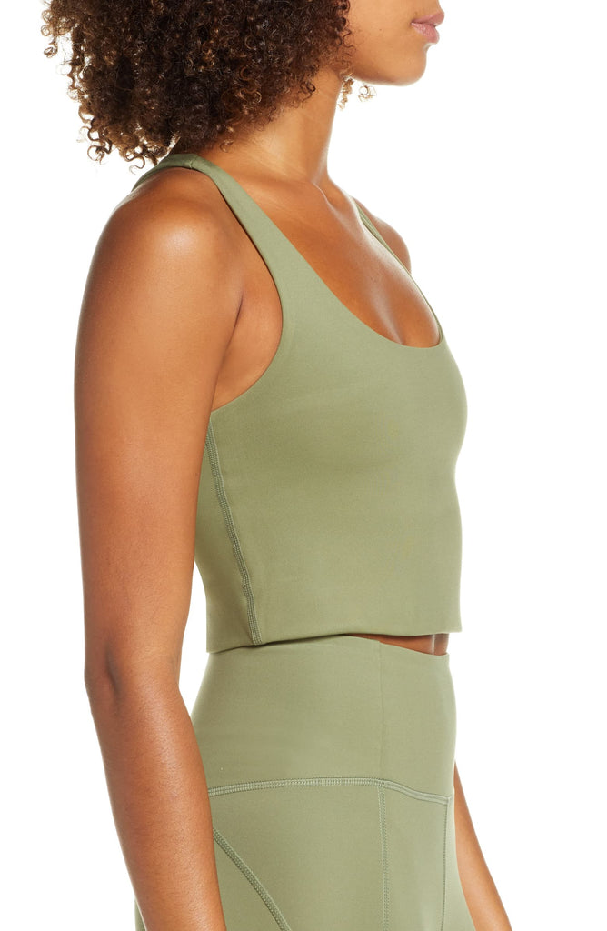 The Compressive High Rise Leggings - Olive