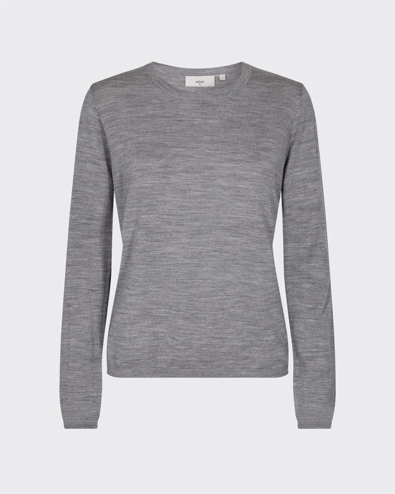 The Italina Sweater by Minimum - Grey