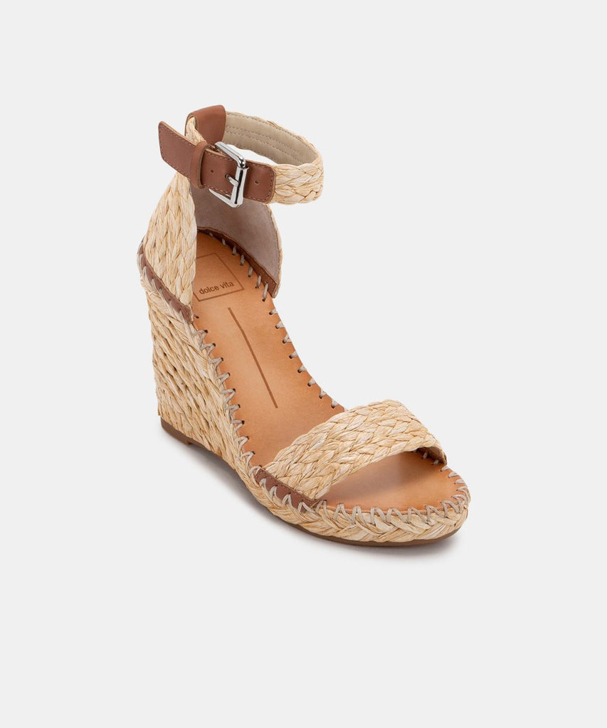 The Noor Wedge by Dolce Vita - Raffia