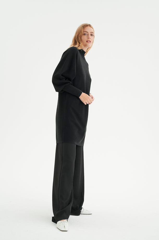 The Sanja Sweater Dress by InWear - Black - PLUS