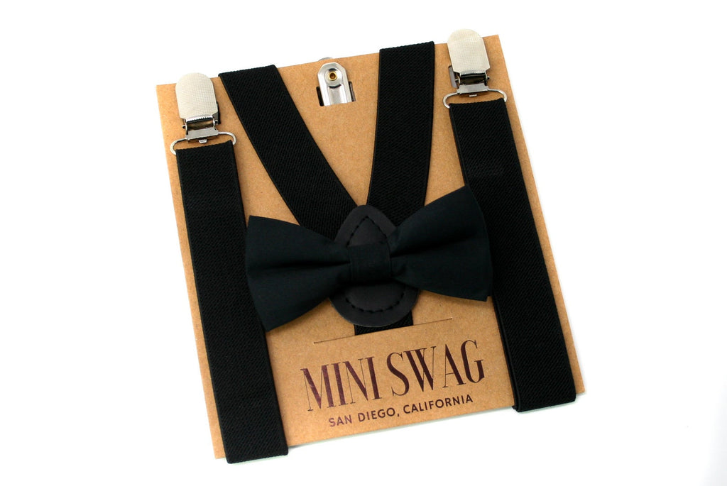 The Kid Bow Tie + Suspender Set- Various Colours