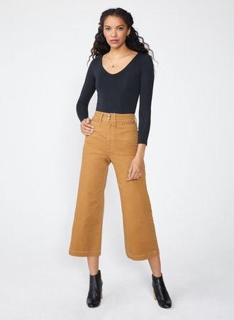 The Gemma High Waist Mod Sailor - Camel
