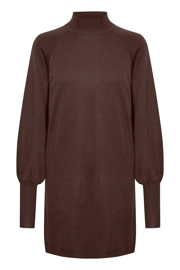 The Sanja Sweater Dress by InWear - Coffee Brown - PLUS
