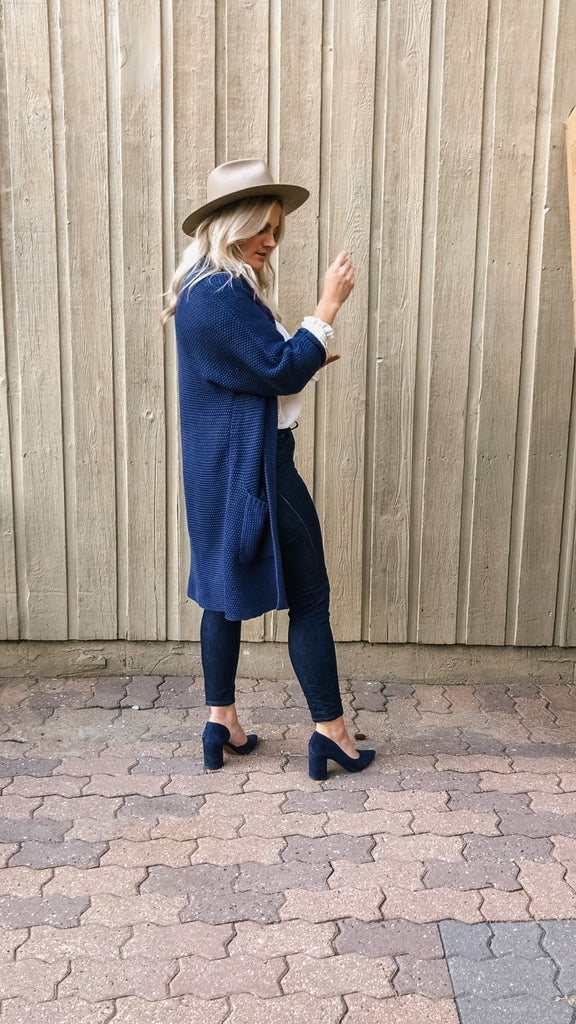 The Erinn Cardigan - Navy Blue