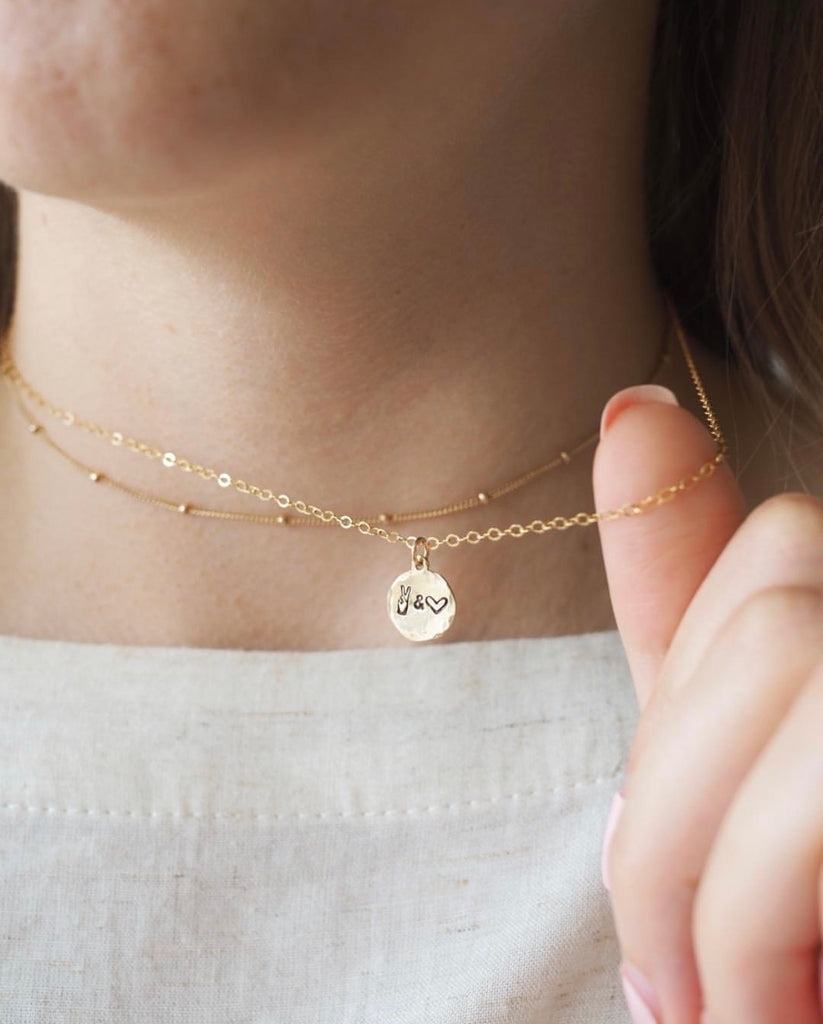 The Peace & Love Charm Necklace
