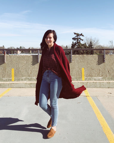 The Erinn Cardigan - Merlot