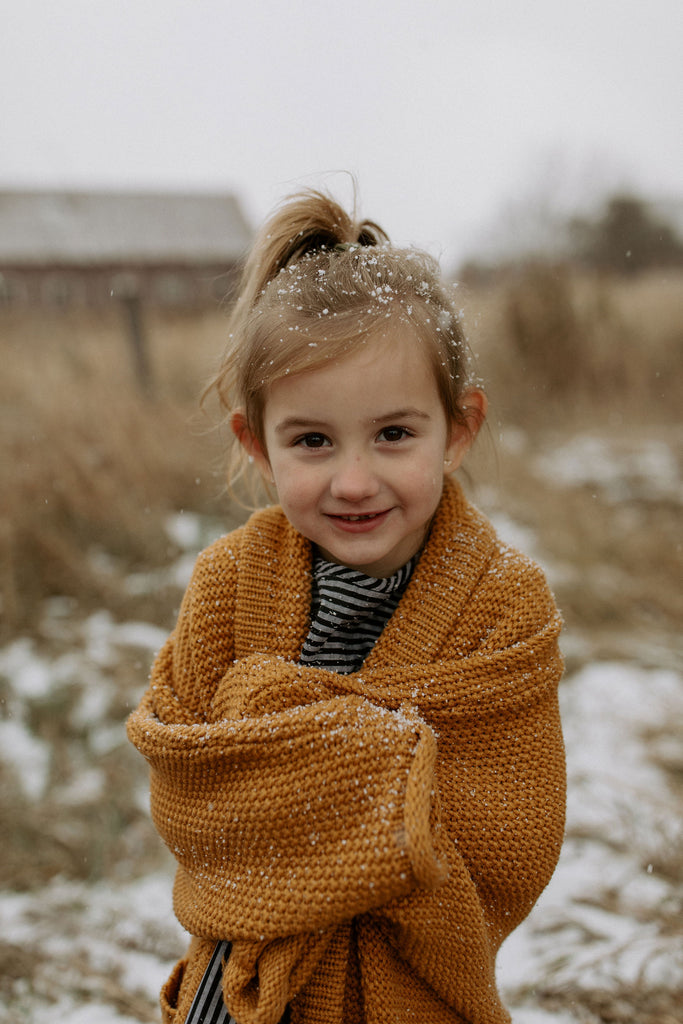The Mini Erinn Cardigan - Mustard