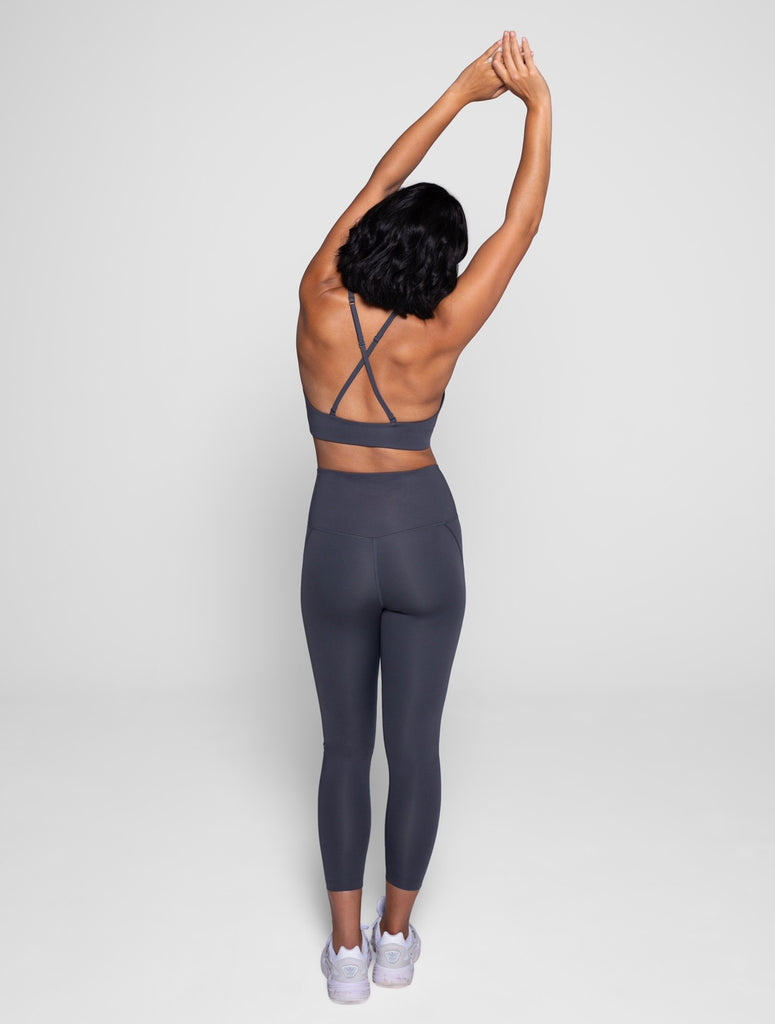 The Compressive High Rise Leggings - Smoke