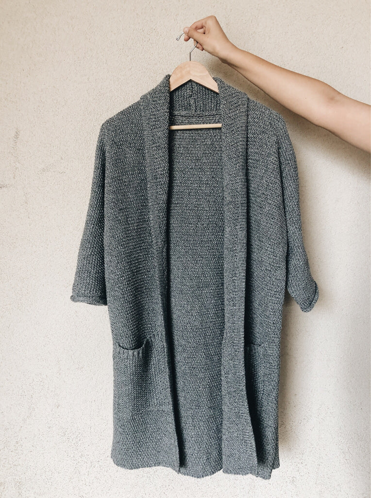 The Erinn Cardigan - Pebble Grey