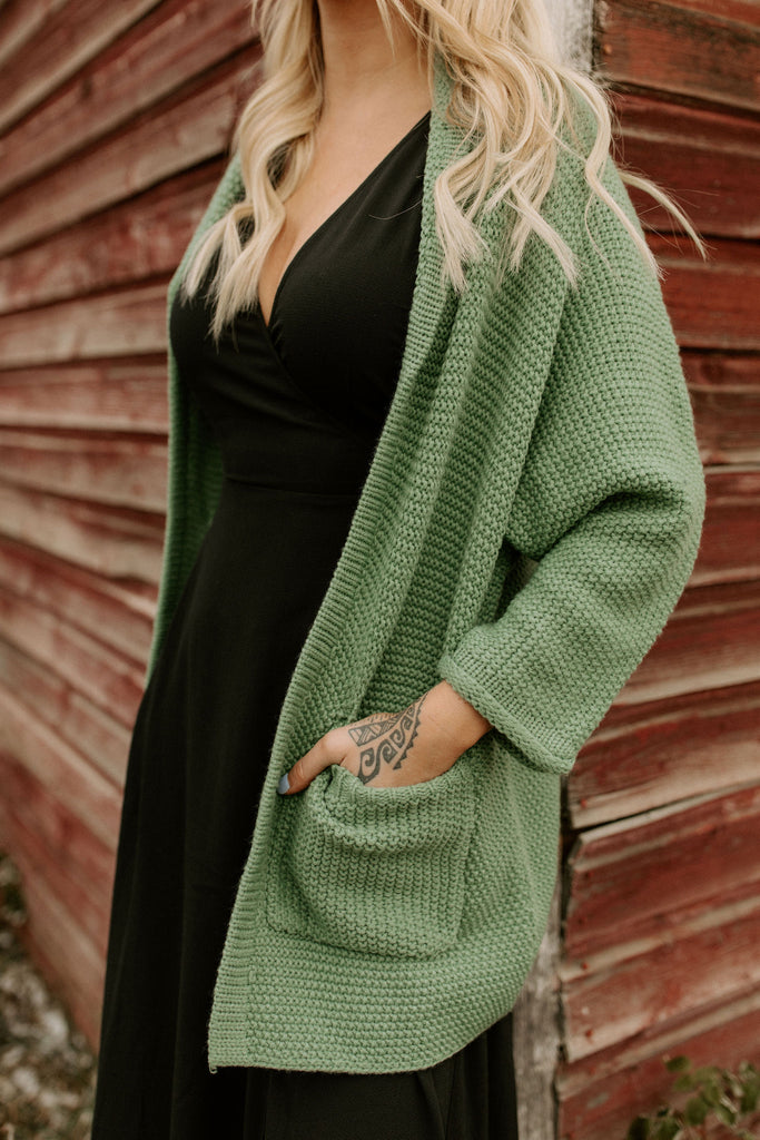The Erinn Boyfriend Cardigan - Spearmint