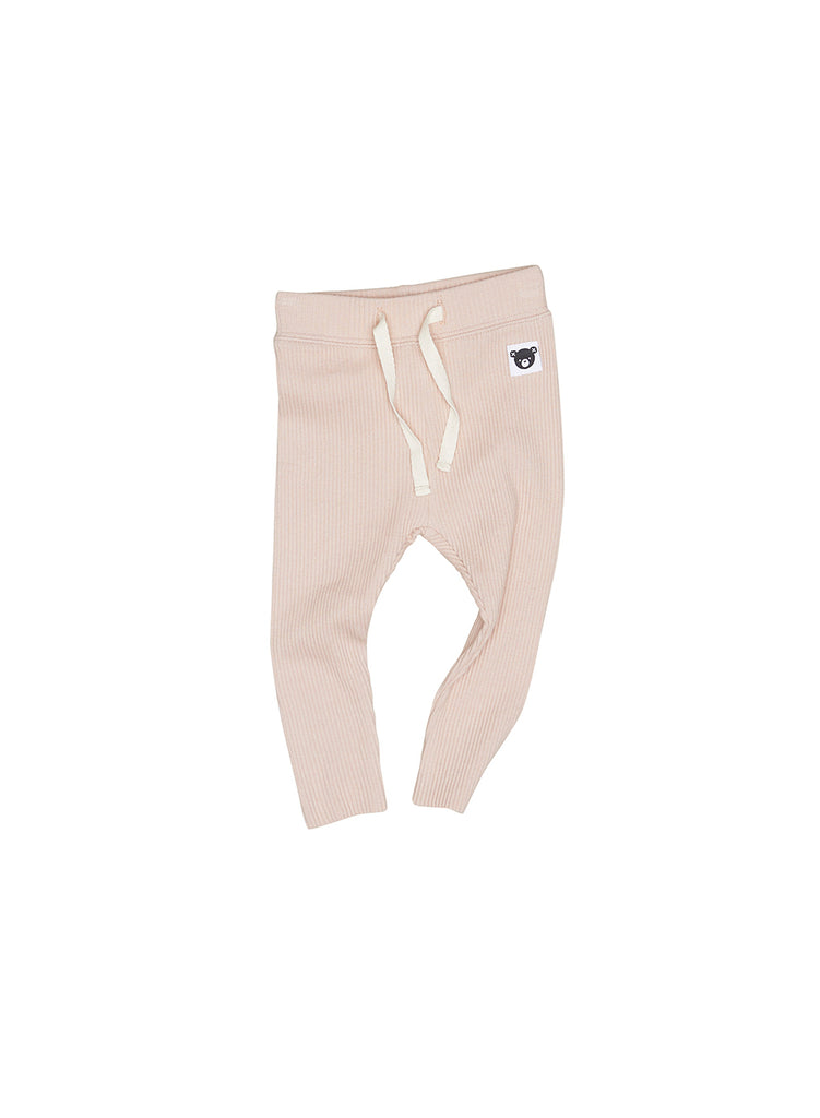 The Ribbed Legging - Rose